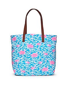 crown & ivy™ Fancy Flamingo Beach Tote