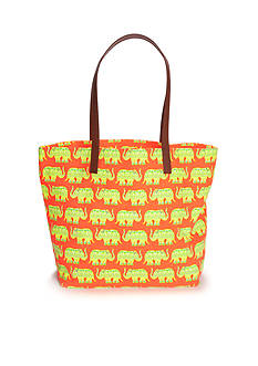 crown & ivy™ Festive Elephant Tote