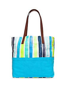 crown & ivy™ Water Color Stripe Tote