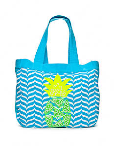crown & ivy™ Pineapple Applique Tote