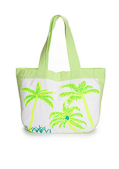 crown & ivy™ Palm Tree Tote