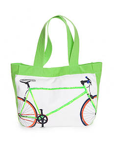 crown & ivy™ Bike Print Tote Bag