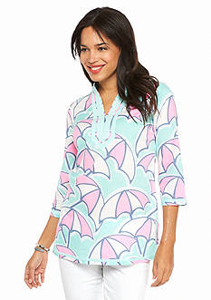 crown & ivy™ beach Umbrella Print Tunic