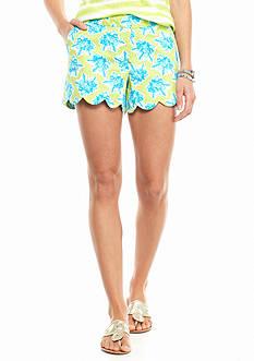 crown & ivy™ Sea Coral Scallop Short