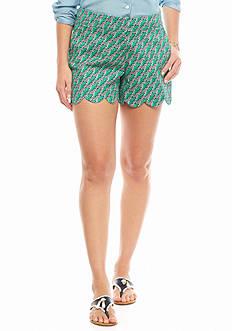 crown & ivy™ Zebra Scallop Shorts