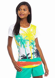 crown & ivy™ Palm Scenic Tee
