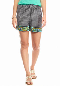 crown & ivy™ Dubai Border Print Soft Shorts