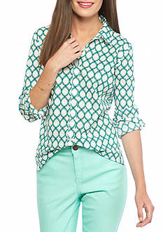 crown & ivy™ Quarter Foil Shirt