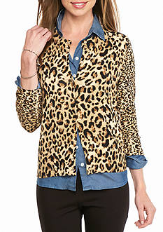 crown & ivy™ Animal Expert Cardigan