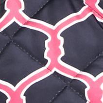 Women: Vests Sale: Pink/Navy crown & ivy™ Printed Puffer Vest