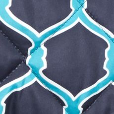 Women: Vests Sale: Navy/Turquoise crown & ivy™ Printed Puffer Vest