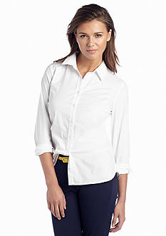 crown & ivy™ Petite Classic Button Up Shirt
