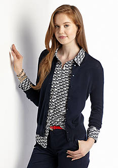 crown & ivy™ Petite Solid Cardigan