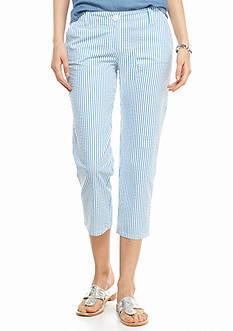 crown & ivy™ Petite Seasalt Stripe Capris