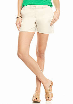 crown & ivy™ Petite Solid Twill Shorts