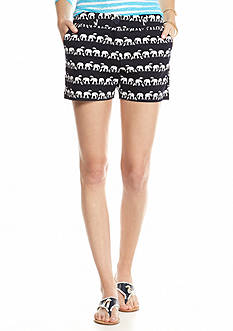 crown & ivy™ Petite Elephant In The Rain Printed Shorts