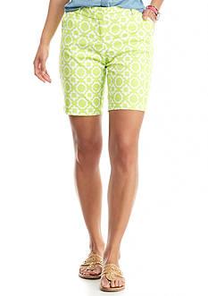 crown & ivy™ Petite Lattice Star Shorts