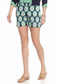 crown & ivy™ Petite Leela Medallion Shorts