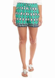crown & ivy™ Petite Tile Soft Shorts