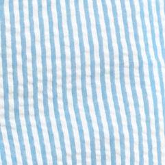 Petites: Shorts & Bermudas Sale: Blue/White crown & ivy™ Petite Seersucker Scallop Shorts