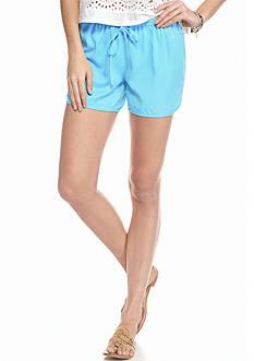 crown & ivy™ Petite Dolphin Hem Shorts