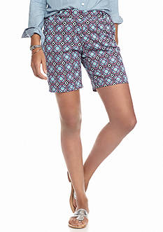 crown & ivy™ Petite Medallion Shorts