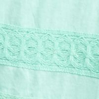 Petite Tops: Knit Tops: Mint Cielo crown & ivy™ Petite Lace Striped Halter Top