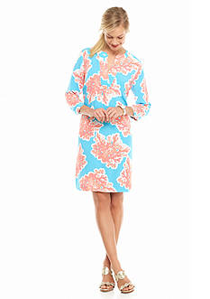 crown & ivy™ Petite Coral Reef Dress