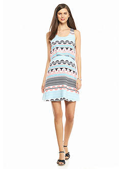crown & ivy™ Petite Printed Popover Dress