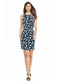 crown & ivy™ Petite Dolphin Halter Dress
