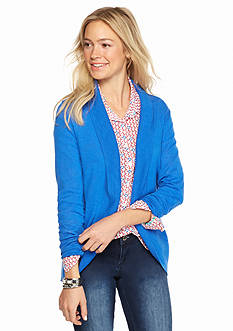 crown & ivy™ Petite Shawl Collar Cardigan
