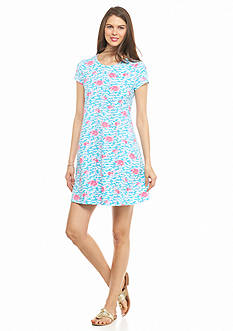 crown & ivy™ beach Petite Fancy Flamingo Swing Dress