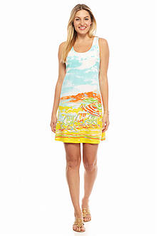 crown & ivy™ beach Petite Beach Scene Racerback Dress