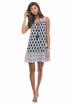 crown & ivy™ Petite Medallion Mayhem Dress