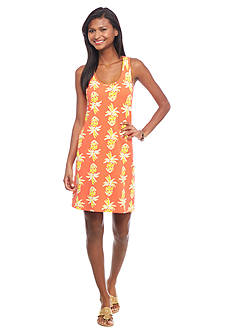 crown & ivy™ beach Petite Pineapple Print Tank Dress