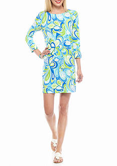 crown & ivy™ beach Petite Sea Swirl Dress