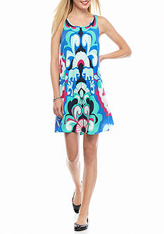 crown & ivy™ Petite Printed Swing Dress