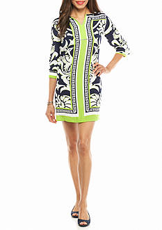 crown & ivy™ Petite Size Printed Shift Dress
