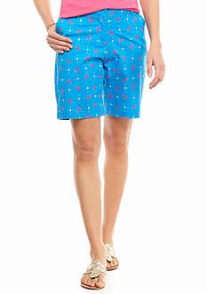 crown & ivy™ Petite Flamingo Printed Long Shorts