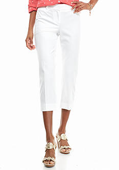 crown & ivy™ Petite Bi-Stretch Crop Pants