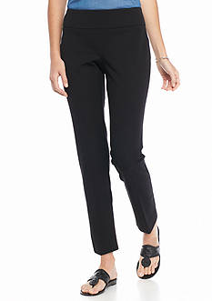 crown & ivy™ Petite Size Pull-On Bi-Stretch Pants - Short