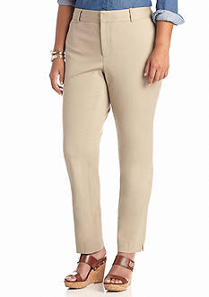 crown & ivy™ Plus Size Bi-Stretch Clean Ankle Pant