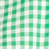 Plus Size Tops: Collared & Button Down: Green/White crown & ivy™ Plus Size Go Go Gingham Shirt