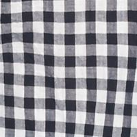 Women's Plus: Tops Sale: Navy/White crown & ivy™ Plus Size Go Go Gingham Shirt