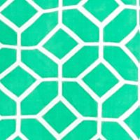 Women's Plus: Crown & Ivy™ Designer: Green/Navy crown & ivy™ Plus Size Tile Pop Twin Peasant Top