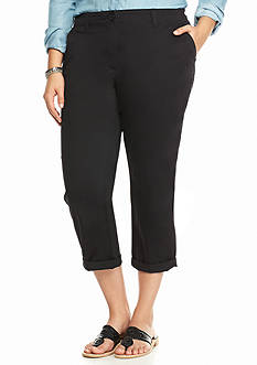 crown & ivy™ Plus Size Casual Capris