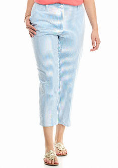 crown & ivy™ Plus Size Seasalt Stripe Capri Pants