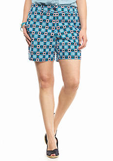 crown & ivy™ Plus Size Milo Medallion Shorts