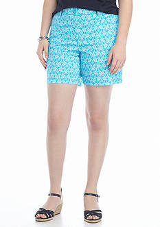 crown & ivy™ Plus Size Elephant Print Short