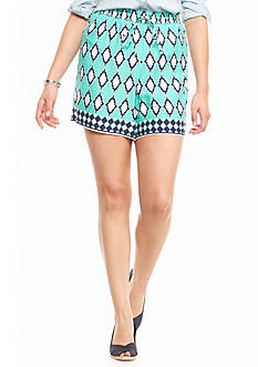 crown & ivy™ Plus Size Tile Print Soft Shorts